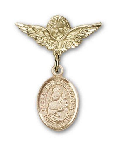 Icecarats Or Bijoux De Créateurs Rempli O / L De Broches Badge Invite Secours Charme D'Ange 1 X 3/4