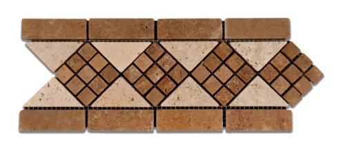 85%OFF Noce & Ivory Travertine Trojan Tumbled Border / Listello - Sample Piece
