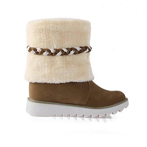 Frosted Camel Platform Boots Tassels AdeeSu Girls Riband Ivgqwq67