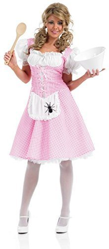 [XL Longer Length Miss Muffet Ladies Longer Length Miss Muffet Costume for Fairytale Fancy Dress Up Outfits 16-18 by Fun] (Miss Muffet Costumes)
