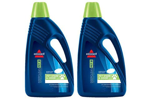 Bissell 2X Pet Stain & Odor Full Size Machine Formula, 24 Ounces (2 Bottles)