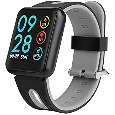 ANMY Smart Wristband for Heart Rate Monitor Blood Pressure Oxygen Sleep Pedometer Motion Long Standby IP68 Waterproof Fitness Tracker Silicone Strap Gray Estimated Price £55.99 -