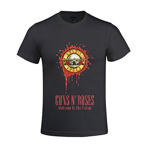 Guns N Roses Welcome To The Videos Men Crew Neck T Shirts For Boys - German Brands Eyeglasses