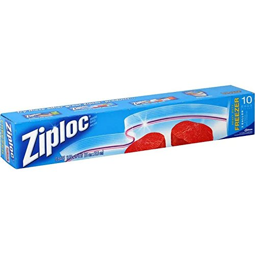 Ziploc Freezer Bag, 2 Gallon Jumbo, 10-Count, Pack of 1