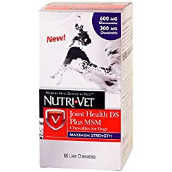 Nutri-Vet Joint Health DS Plus MSM Chewable Tabs, 60 Count, 3 in