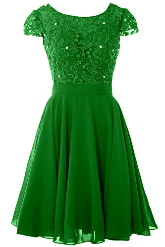 Green Gown the MACloth of Bride Sleeve Cap Dress Formal Mother Women Lace Short Party 77F6Rp