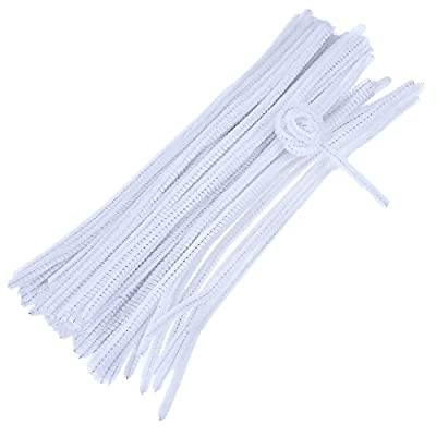 100 Pieces Pipe Cleaners Chenille Stems for Arts and Crafts, 6 x 300 mm