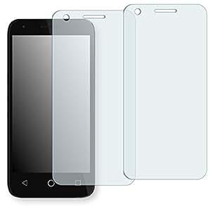 "2 x protectores pantalla Golebo para Alcatel OneTouch Pixi 3 4,5 Zoll. Lámina protectora adhesiva invisible ""Crystal Clear"". Fabricado en Alemania."
