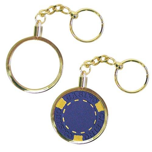 Brass KEY Chain Poker Chip Holder - Set of (Brass Poker Chips)