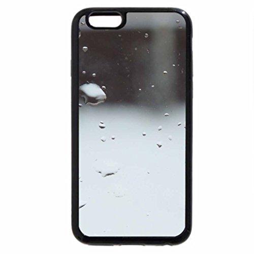 iPhone 6S Case, iPhone 6 Case (Black & White) - Raindrops on the window