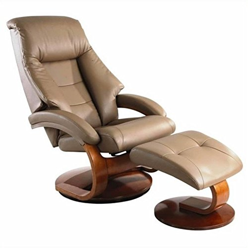 Beautiful Mac Motion Oslo Leather Swivel Recliner With Ottoman In Sand Finish