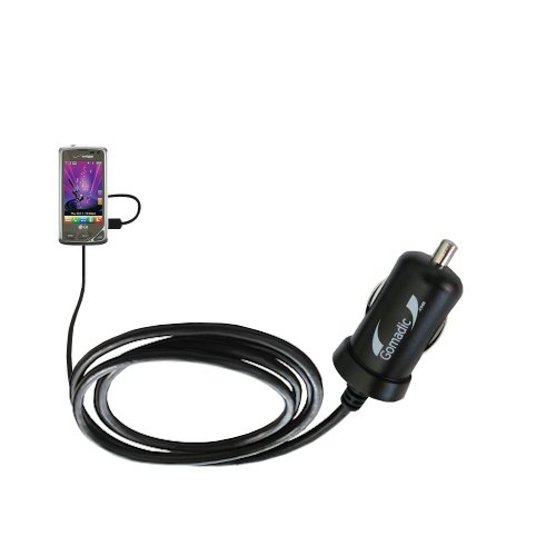 (Gomadic Intelligent Compact Car / Auto DC Charger suitable for the LG Chocolate Touch VX8575 - 2A / 10W power at half the size. Uses Gomadic TipExchange Technology)