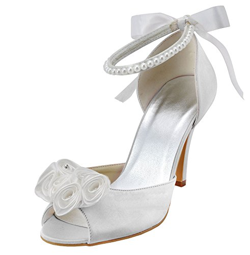 beige tendance Heel 9cm Ivory mariage Minitoo Chaussures femme de wRxXqAHgf