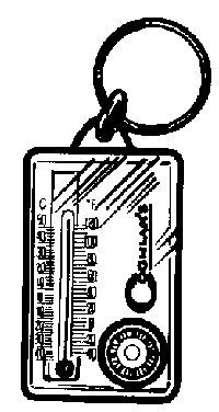 (Coghlans 9714 Zipper Pull Thermometer & Compass)
