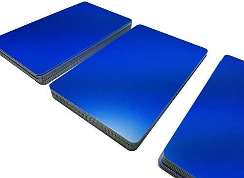 Premium Plastikkarten | PVC Karten BLAU MATT | 1-100 Stück | Blanko Rohlinge | NEU! (50)