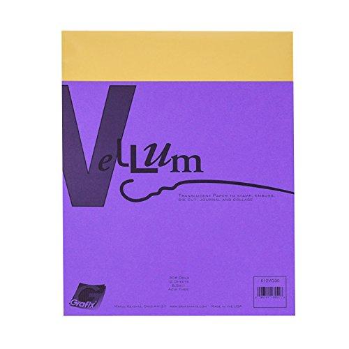 - Grafix 30-Pound 8-1/2-Inch by 11-Inch Vellum, 12-Pack, Gold