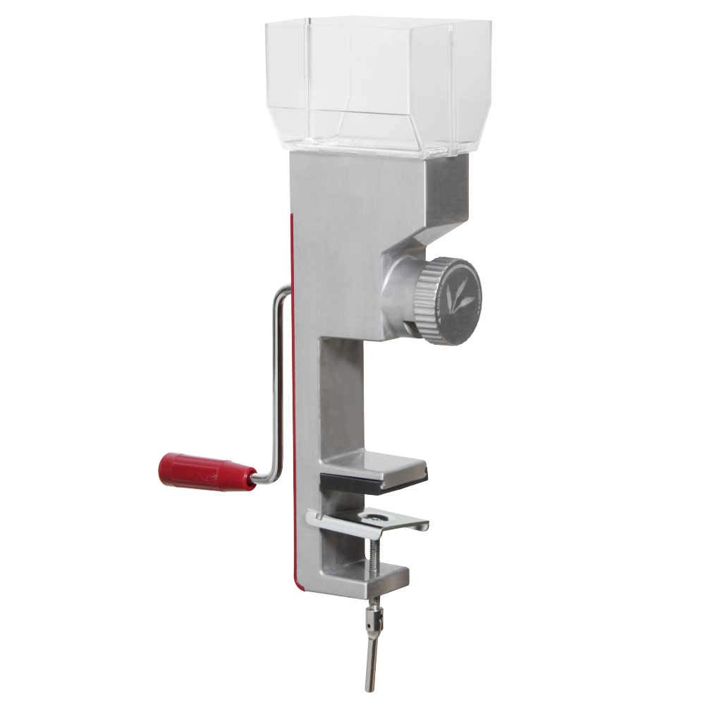 Deluxe Hand Crank Grain Mill with Clamp Base Grinds Wheat, Rice and Small Grains VKP1024 by Victorio Kitchen Products