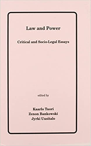 law and power critical and socio legal essays legal semiotics  law and power critical and socio legal essays legal semiotics monographs amazon co uk kaarlo tuori jyrki uusitalo zenon bankowski 9780952893806