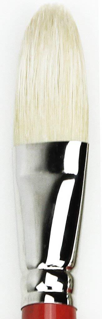 Size 20 da Vinci Hog Bristle Series 5423 Maestro 2 Artist Paint Brush 5423-20 Filbert Medium-Length with Red Handle