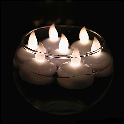 ARDUX LED Flashing Flameless Waterproof Floating Tealight Candle Decoration for Party Wedding Birthday Thanksgiving Christmas Home Garden Decoration Special Occasion (Pack of 12, Warm White) (Flashing Floating)