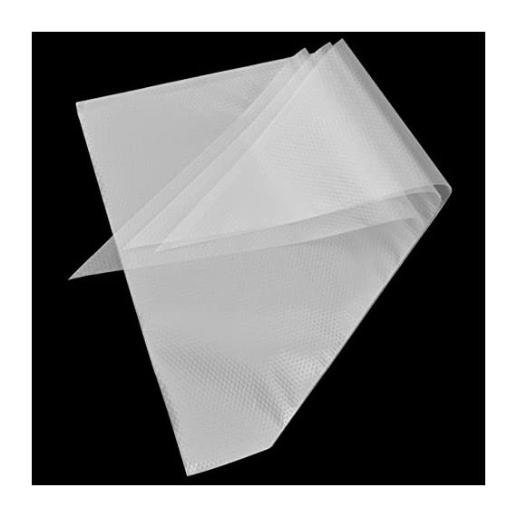 "Pastry bags,yookat 100pcs 12 inch disposable icing decorating bags baking supplies for cupcakes cookies candy pastry… 3 clear strong material:pastry bags are made of soft and transparent but extremely resistant plastic,strong and flexible,can withstand powerful extrusion. Clear plastic icing bags ideal for decorating projects that require different color icings at same time. You can distinguish and pick the correct one easily and and convenient to see how much frosting remained. Large size save your time: the size about 12""x8. 3""x13. 8""(30. 5cm × 21cm × 35cm), 13inch size is perfect for big cake piping projects,allow you keep dispensing consistently, allow you to fill each bag with more icing each time, no need to refill frequently. Height 32cm, which is enough for what you do (cabbage, butter cream, duchess potatoes, stuffed cannelloni). Easy to use and handle: the surface of the bags is not smooth, it is much rougher with particles design. They're easy to handle and hold it. It is not slippy for grip it. Perfect cake decorating supplies icing bags for bakey beginner, baker or cake decorating lover."