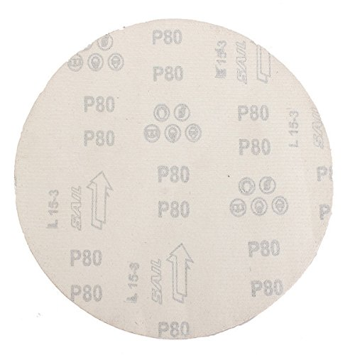 Letbo New 5pcs 9 Inch 80 Grit Aluminum Oxide Sanding Polishing Disc Abrasive Tool