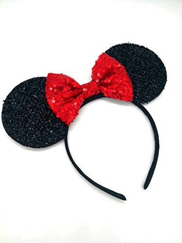 Red Mickey Ears, Rainbow Minnie Mouse Ears, Sparkly Minnie Ears, Mouse Ears, Electrical Parade Ears