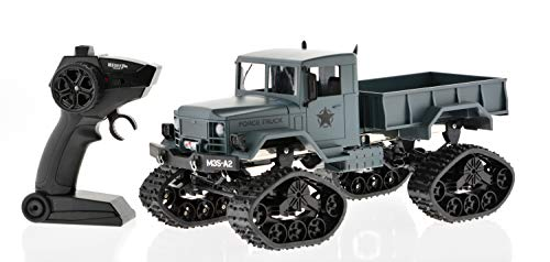 Extreem Hobby CIS-FY001B 1: 16 Scale Military Truck with Tracks & Wheels, One Size, Gray
