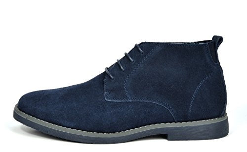 BRUNO MARC NEW YORK Mens Classic Original Suede Leather Desert Storm Chukka Boots Chukka-navy 0atufHWdK
