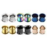 00 double steel plug - PiercingJ 6 pairs 8G-3/4
