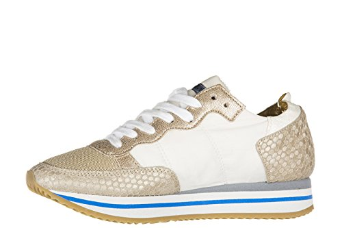 Philippe Model scarpe sneakers donna in pelle nuove tropez higer honey 3cm sole