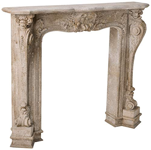 Creative Co-Op Decorative Wood Fireplace Mantel With With Distressed Finish, White (Distressed Fireplace Mantel)
