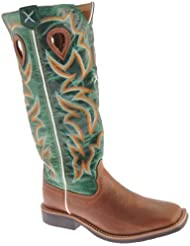 Twisted X Boys Turquoise Buckaroo Cowboy Boot Square Toe - Ybk0005