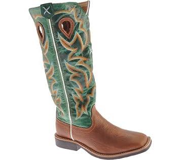 b33dd305996 Twisted X Boys' Turquoise Buckaroo Cowboy Boot Square Toe
