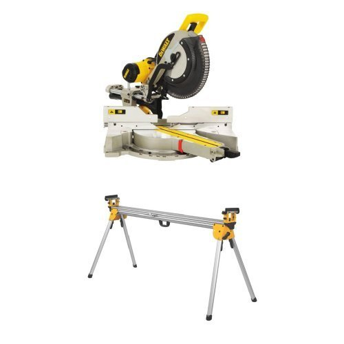 DEWALT DWS780 12-Inch Double Bevel Sliding Compound Miter Saw w/ DWX723 Heavy Duty Miter Saw Stand