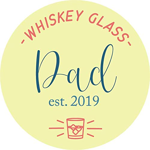 Gift for Dad Est. 2019 Whiskey Glass for New Father by 1st Legal (Image #2)