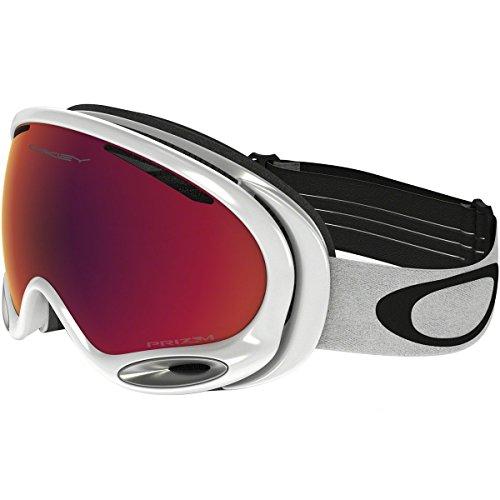 Oakley A-Frame 2.0 Goggles, Polished White, Prizm Torch Iridium, Medium (Oakley Women Ski Goggles)