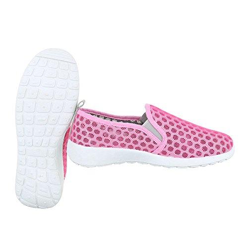 Pantofole Ital Grau Da design Donna Rosa rwExwqzHn
