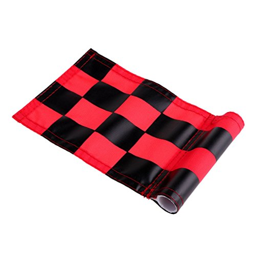 Prettyia 4Pcs Golf Chequered Flag Backyard Outdoor Putting Green Practice Aids Flags for Golf Club by Prettyia (Image #9)