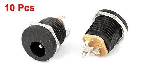 Amazon.com: eDealMax 10 piezas DE 2,1 mm de soldadura DE 3 terminales x 5.5mm enchufe hembra Toma de alimentación de CC: Electronics