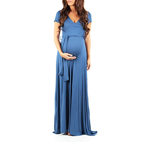Maternity Short Sleeve Dress with Belt - Made in USA
