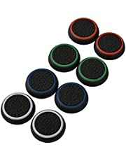 4 Pair / 8 Pcs Replacement Silicone Thumb Grip Stick thumbstick analogici Joystick Cap Cover per PlayStation PS4 / PS3 / Xbox One / Xbox 360/ Nintendo Wii U Game Controllers Black