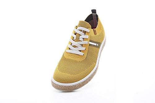 Uin Mens Riverside Knit Travel Casual Schoenen Geel