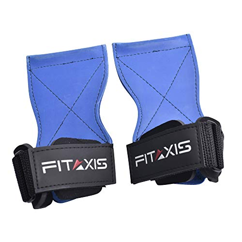 FITAXIS Weight Lifting Grips/Straps for Dead-Lifts Wings Exercise Gymnastic Cross-fit Training Pull-Push-ups.- Premium Quality Gloves