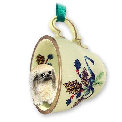 Conversation-Concepts-Pekingese-Tea-Cup-Green-Holiday-Ornament