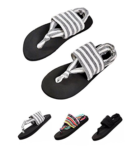 829dc14ee7b91 Donppa Womens Flat Sandals Flip Flops Yoga Sling