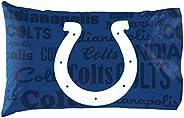 NFL Indianapolis Colts Anthem Pillowcase Set Anthem Pillowcase Set, Blue, One Size