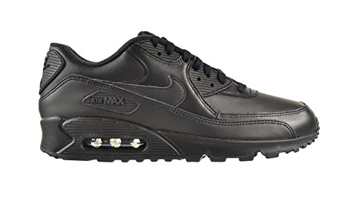 Nike Air Max 90 Leather Men's Shoes Black/Black 302519-001 (10.5 D(M) US) (Max Leather)