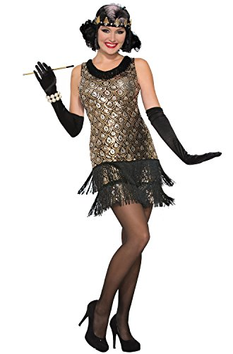 Forum Women's Roaring 20's Flapper Costume, Multi/Color, X-Small/Small - Speakeasy Flapper Costume