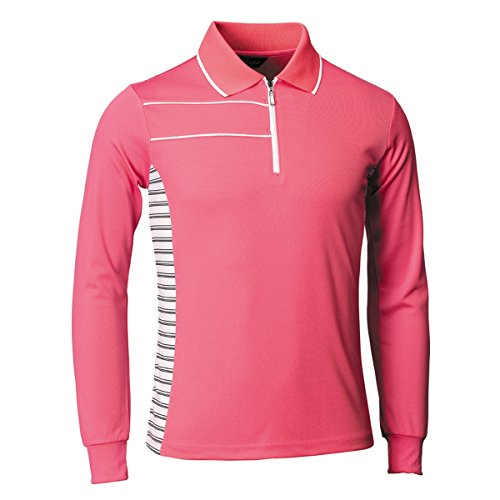myglory77mall Polo Coolmax Dryfit Golf Tennis Collared Plain tshirt Top Tee 051 US S(L tag) Pink ()